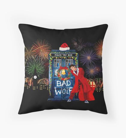 Happy New year from 10th Doctor Throw Pillow