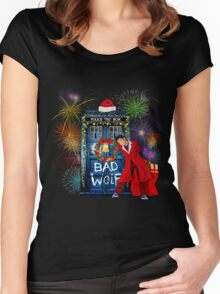 Happy New year from 10th Doctor Women's Fitted Scoop T-Shirt