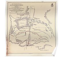 Civil War Maps 0667 Map of battlefield of Big Black River Bridge Mississippi showing the positions of the US troops May 17th 1863 Poster