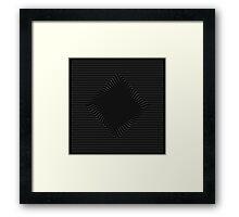 Op Art Zoom Cube Framed Print