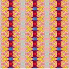 Pretty Yellow Red Ribbons Pattern by donnagrayson