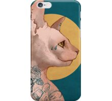 Tattoo Sphinx Cat iPhone Case/Skin