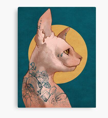 Tattoo Sphinx Cat Canvas Print