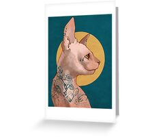 Tattoo Sphinx Cat Greeting Card