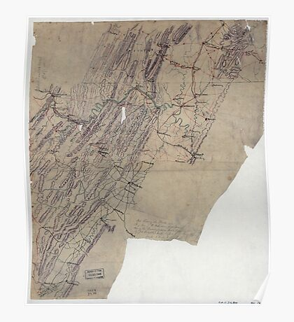 Civil War Maps 1095 Map showing the routes of Brig Gen JB ie JD Imboden's command during the Pennsylvania campaign of 1863 Poster