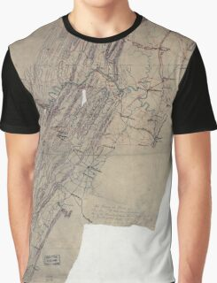 Civil War Maps 1095 Map showing the routes of Brig Gen JB ie JD Imboden's command during the Pennsylvania campaign of 1863 Graphic T-Shirt