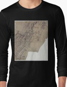 Civil War Maps 1095 Map showing the routes of Brig Gen JB ie JD Imboden's command during the Pennsylvania campaign of 1863 Long Sleeve T-Shirt