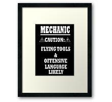 Mechanic Funny Framed Print