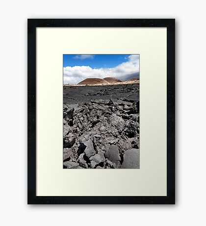 Lava Field  Framed Print