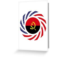Angolan American Multinational Patriot Flag Greeting Card