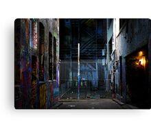 Graffiti fence Canvas Print