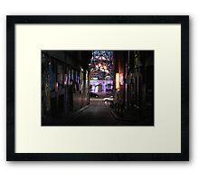 Lane by night Framed Print