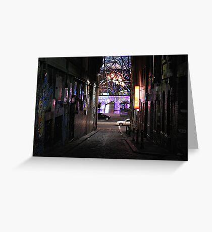 Lane by night Greeting Card