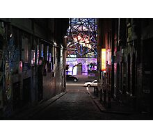 Lane by night Photographic Print