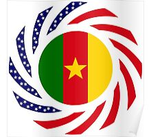 Cameroon American Multinational Patriot Flag Series 1.0 Poster