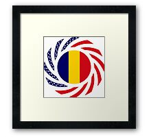 Chad American Multinational Patriot Flag Series Framed Print