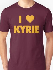 I LOVE KYRIE Irving Cleveland Cavaliers Basketball Unisex T-Shirt