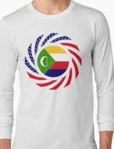 Comoros American Multinational Patriot Flag Series Long Sleeve T-Shirt