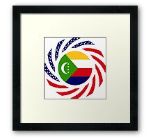Comoros American Multinational Patriot Flag Series Framed Print