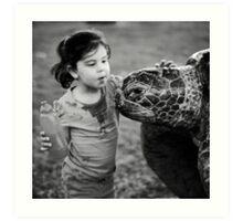 Hello turtle Art Print