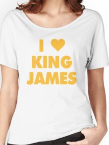 I LOVE KING JAMES Lebron Cleveland Cavaliers NBA Playoffs Women's Relaxed Fit T-Shirt
