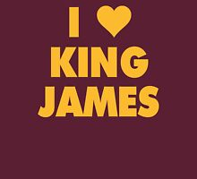 I LOVE KING JAMES Lebron Cleveland Cavaliers NBA Playoffs Womens Fitted T-Shirt