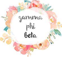 Gamma Phi Beta Watercolor by SLEV