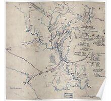 Civil War Maps 0380 First Manassas Poster