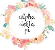 Alpha Delta Pi Watercolors by SLEV