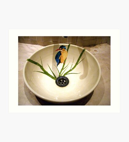 bathroom sink, Chobe Safari Lodge, Botswana 2 Art Print