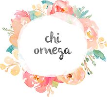 Chi Omega Watercolors by SLEV
