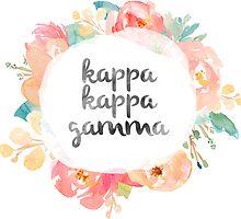 Kappa Kappa Gamma Watercolors by SLEV