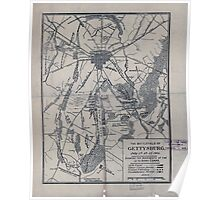 Civil War Maps 1751 The battlefield of Gettysburg July 1st 2d 3d 1863 showing the movements of the 12th Army Corps Poster