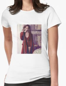 Aubrey Plaza - Color - 3 Womens Fitted T-Shirt