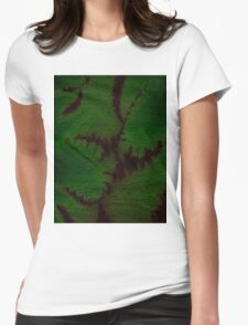 Marbled Spineless Acacia Leaves  Womens Fitted T-Shirt