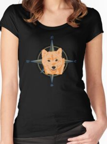 Shiba Inu - Doge Compass Women's Fitted Scoop T-Shirt