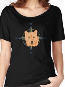 Shiba Inu - Doge Compass Women's Relaxed Fit T-Shirt