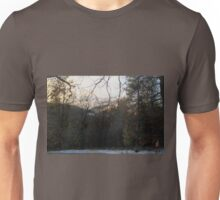 Low Clouds over the Forest Unisex T-Shirt