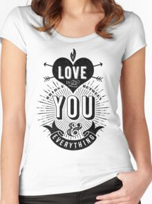 Love Is The Bridge Women's Fitted Scoop T-Shirt
