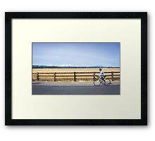 Distracted Ride Framed Print