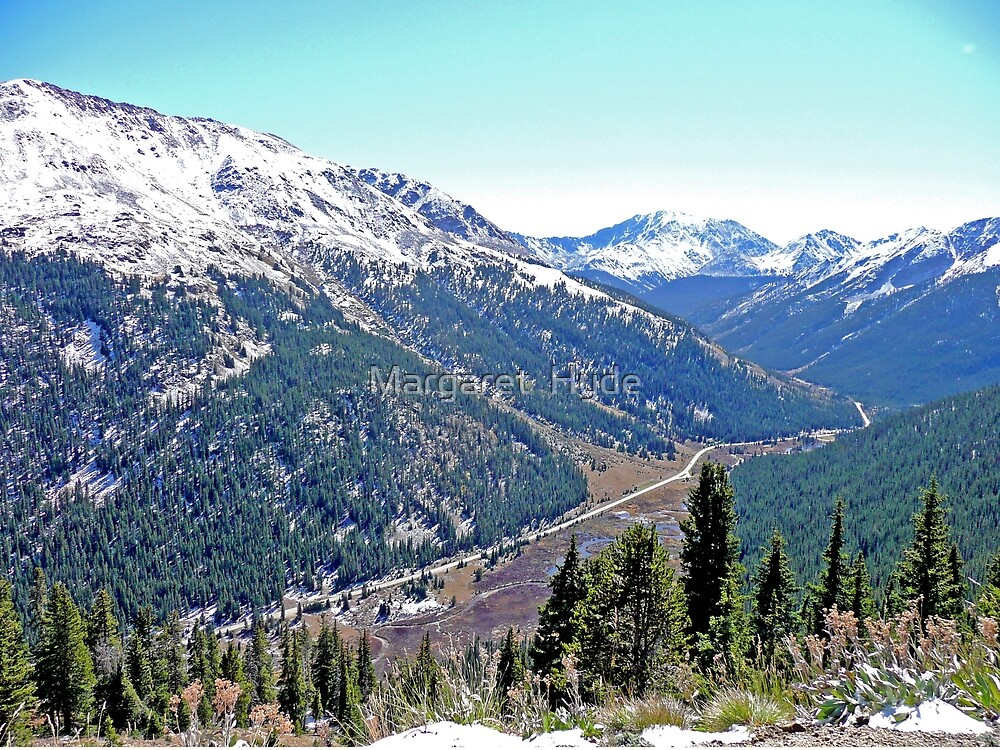 View from Independence Pass, Colorado by Margaret  Hyde