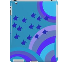 Psychedelic blue fish iPad Case/Skin