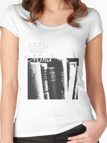 OLD BOOKS Women's Fitted Scoop T-Shirt