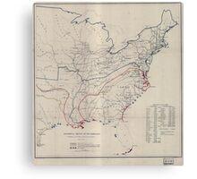 Civil War Maps 0495 Historical sketch of the rebellion Canvas Print