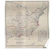 Civil War Maps 0495 Historical sketch of the rebellion Poster