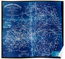 Civil War Maps 1192 Newberry District South Carolina Inverted Poster