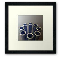 Eight Metallic Tubes Framed Print