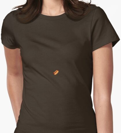 Hotdog Pixel Sprite Womens Fitted T-Shirt
