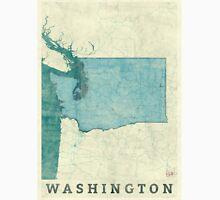 Washington State Map Blue Vintage Unisex T-Shirt