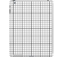 Cell Phone Case Black White Grid Pattern iPad Case/Skin